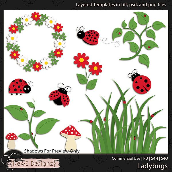 EXCLUSIVE Layered Ladybugs Templates By NewE Designz | Fly Away Home ...