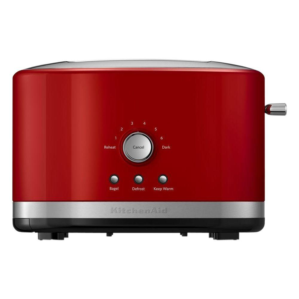 kitchenaid 4 1 2 quot red stainless steel kitchenaid 2 slice empire red wide slot toaster with crumb tray kmt2116er red toaster toaster 2652
