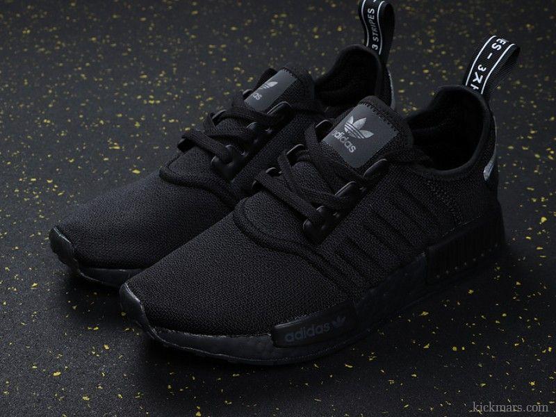 Adidas NMD R1 Molded Stripes Black BD7745 in 2020 | Adidas