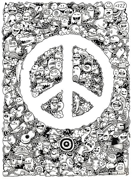 Peace Doodle Art Print by Kerby Rosanes | Society6 | kelly ideas ...