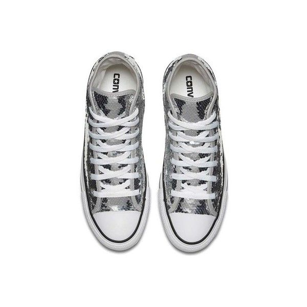 7a5c8ea893ad Women s Converse Chuck Taylor All Star Classic Sequin High ( 53) ❤ liked on  Polyvore featuring shoes