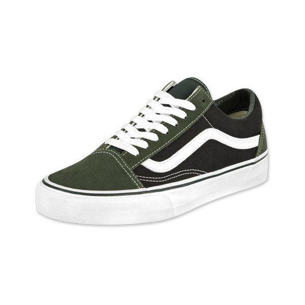 Vans Old Skool shoes dark greenblack