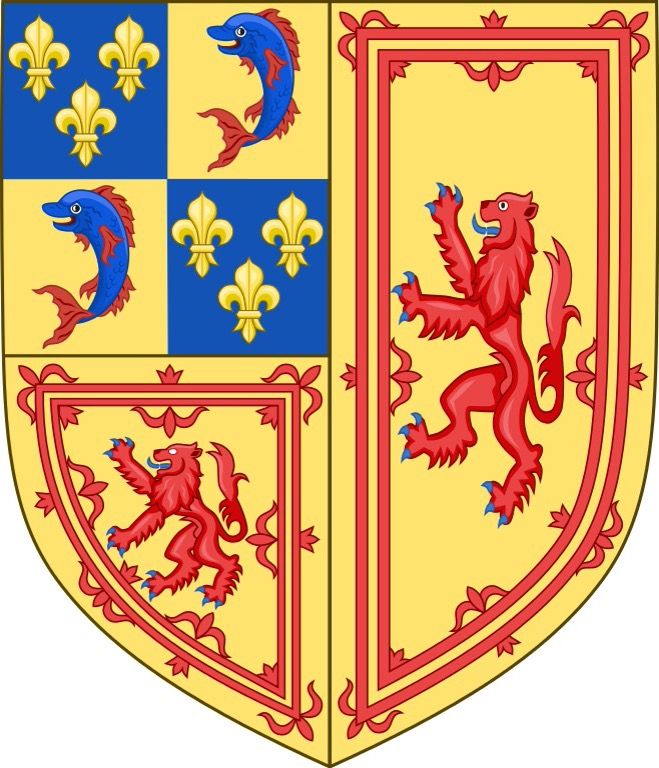 Royal Arms Of Mary As Queen Of Scots And Dauphine Of France Mary