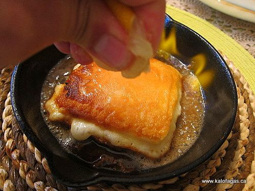 Saganaki Flaming Cheese Almost Exactly The Same Recipe At
