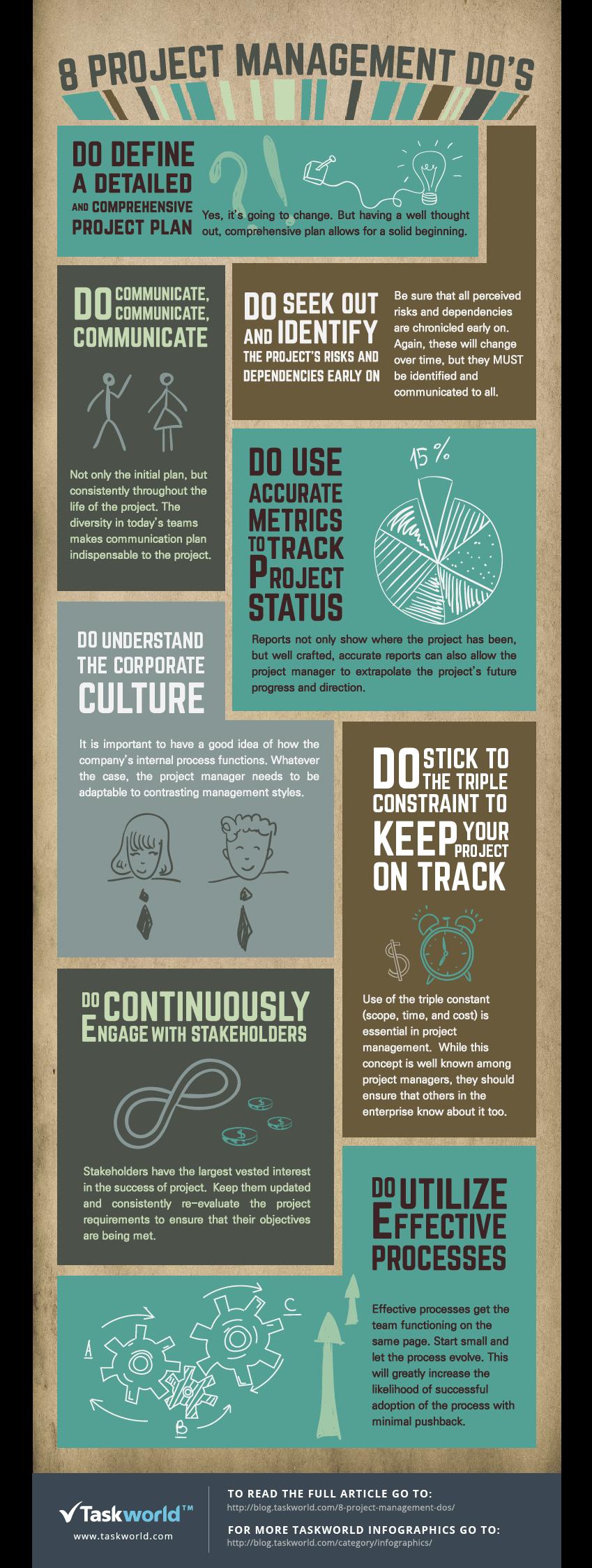 8 Project Management Dos Infographic Project Management