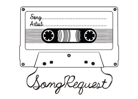 Song Request Mixtape Card Digital Design Style 1 Song Request Songs Rsvp Card