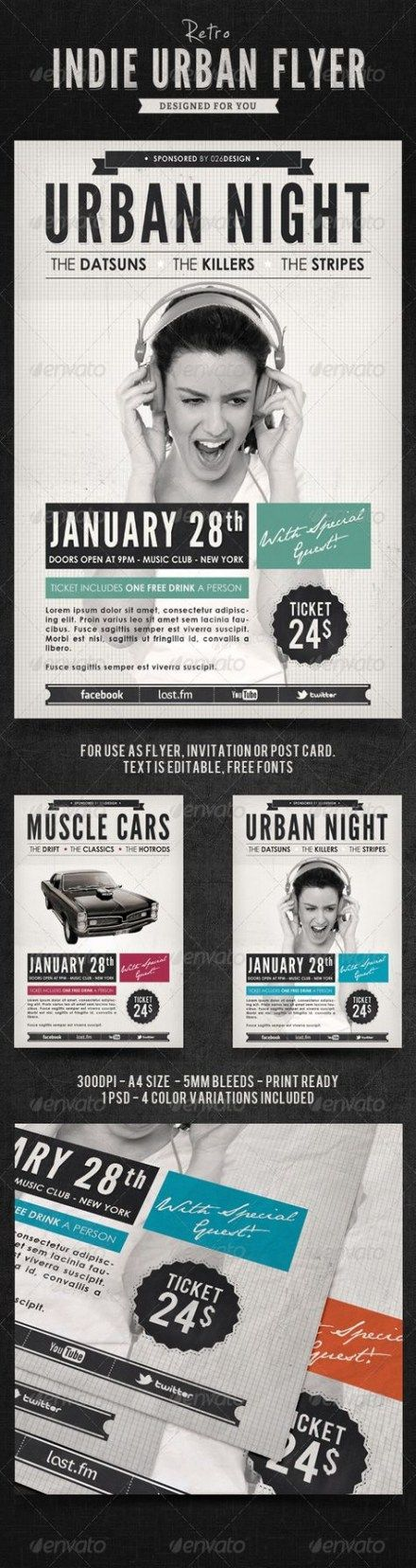 Music festival poster typography fonts 36+ Ideas #music | Typography poster, Graphic design ...