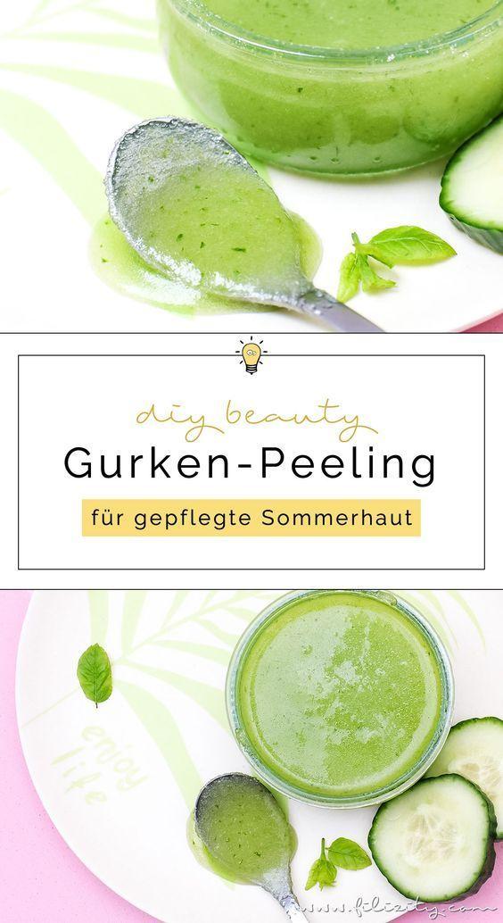 DIY Gurken-Peeling - Natürliche Hautpflege selber anmischen | Filizity.com | Beauty- & DIY-Blog aus dem Rheinland