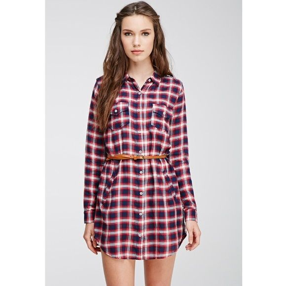 F21 Multicolor Plaid Shirt Dress Brand new, never worn! In perfect condition! Sold out online and in-stores, Forever 21 plaid shirt dress multicolor!  Don't forget to check out the rest of my closet I give discounts on bundles! Forever 21 Dresses