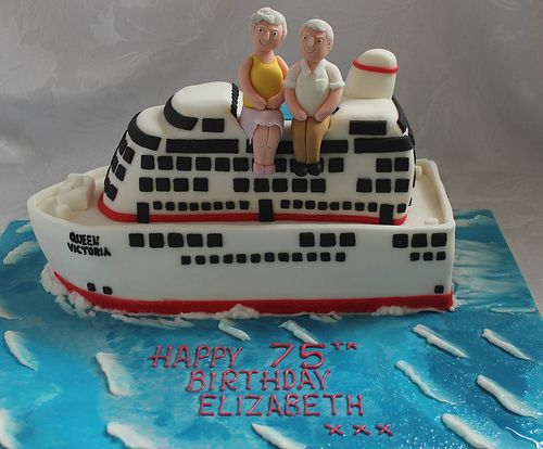 Cruise Ship birthday cake Cruise ships Birthday cakes and