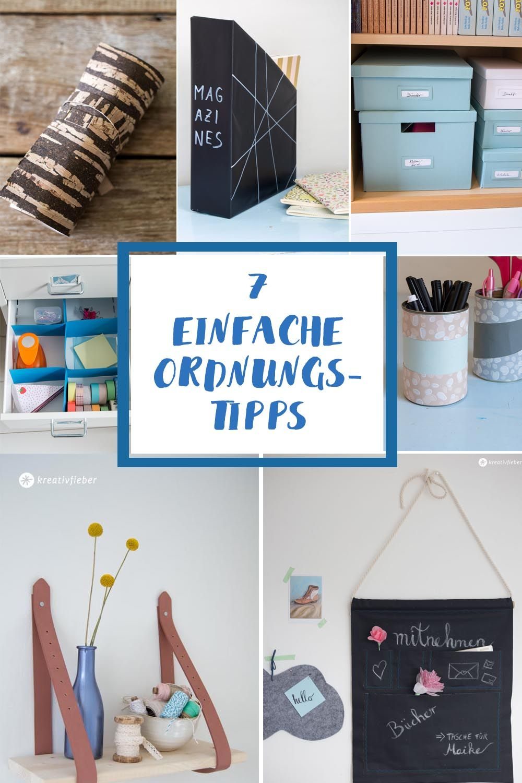 7 einfache tipps f r mehr ordnung zuk nftige projekte pinterest aufr umen ausmisten und tipps. Black Bedroom Furniture Sets. Home Design Ideas