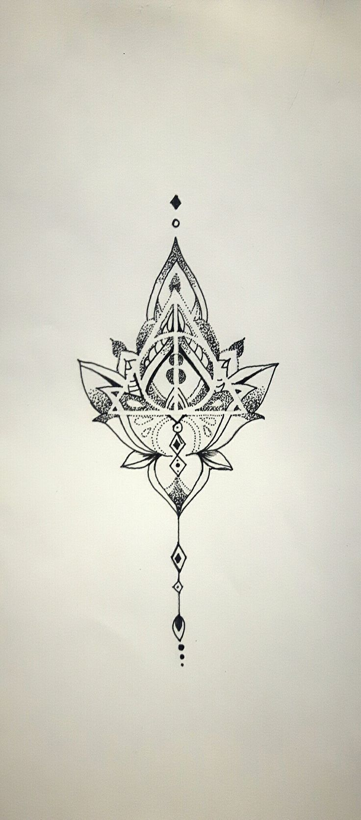 Mandala Deathly Hallows, tattoo idea ,   Tattoo