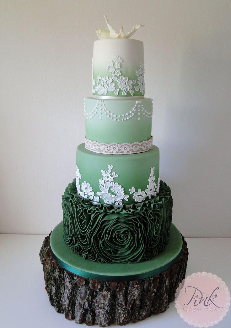 Indian Weddings Inspirations Green Wedding Cake Repinned By