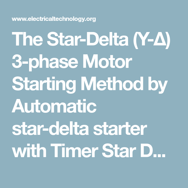 Star Delta 3 Phase Motor Automatic Starter With Timer ...