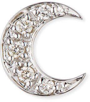 8b8c9b78c 14k Pave Diamond Crescent Moon Single Stud Earring   Products   14k ...