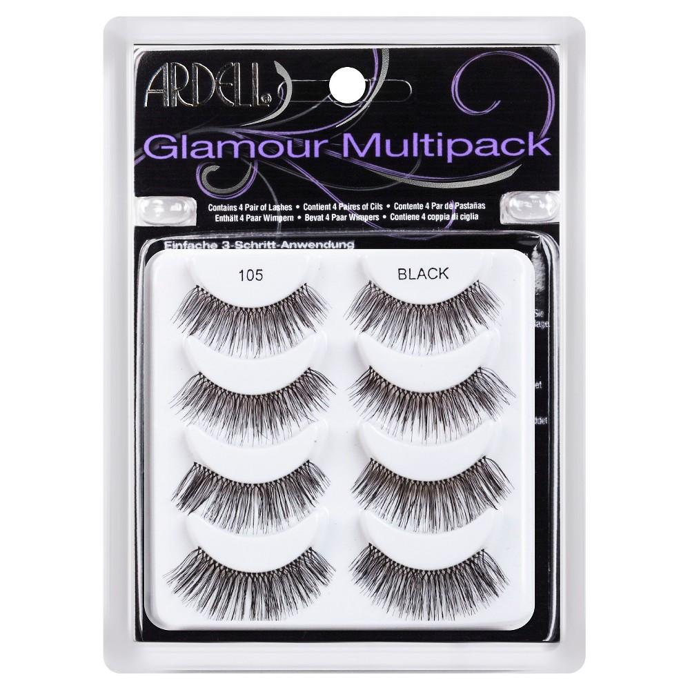 Ardell 4pr Glamour Eye Lashes 105 Black