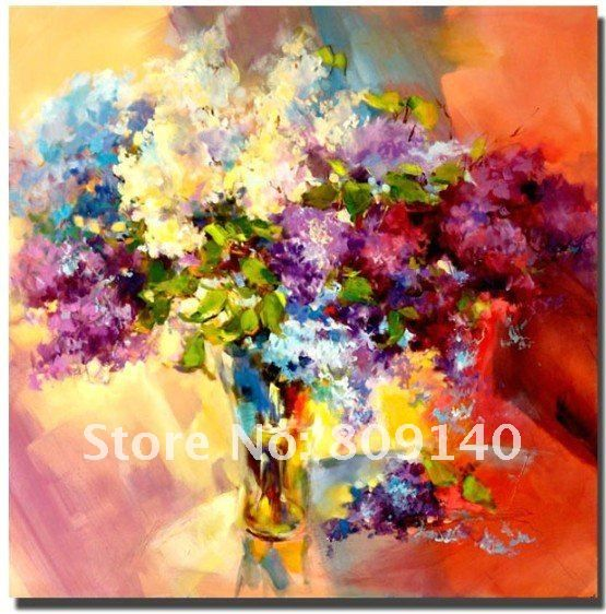 oil painting flower classic abstract decorative artwork on canvas ...