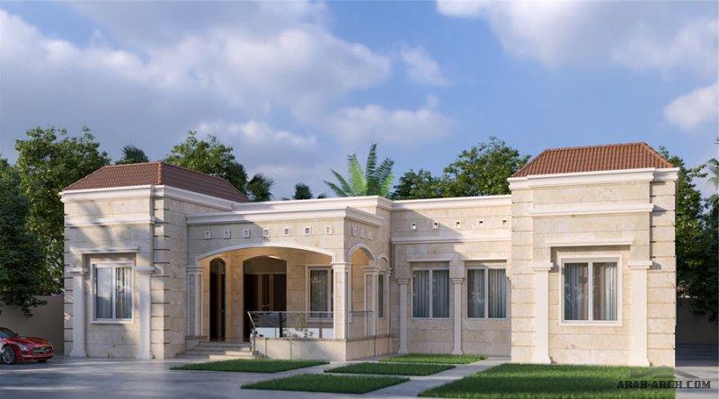 خطة دور ارضي ابعاد الارض 20 40 م X 26 م 4 غرف نوم Classic House Design Architectural House Plans House Ceiling Design