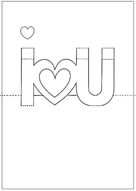 Printable pop up cards pop up i love you card photo for 3d pop up card templates free
