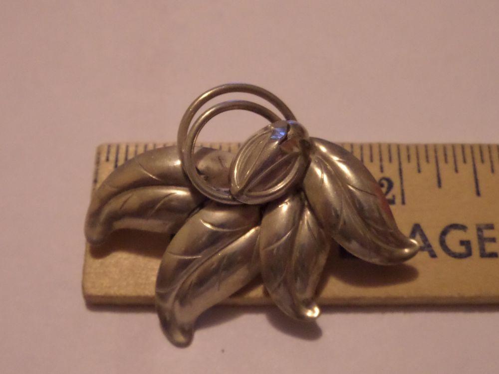 Midcentury Modern Sterling Silver Flower Pin Brooch HS Hermann Siersbol Denmark #HermannSiersbol