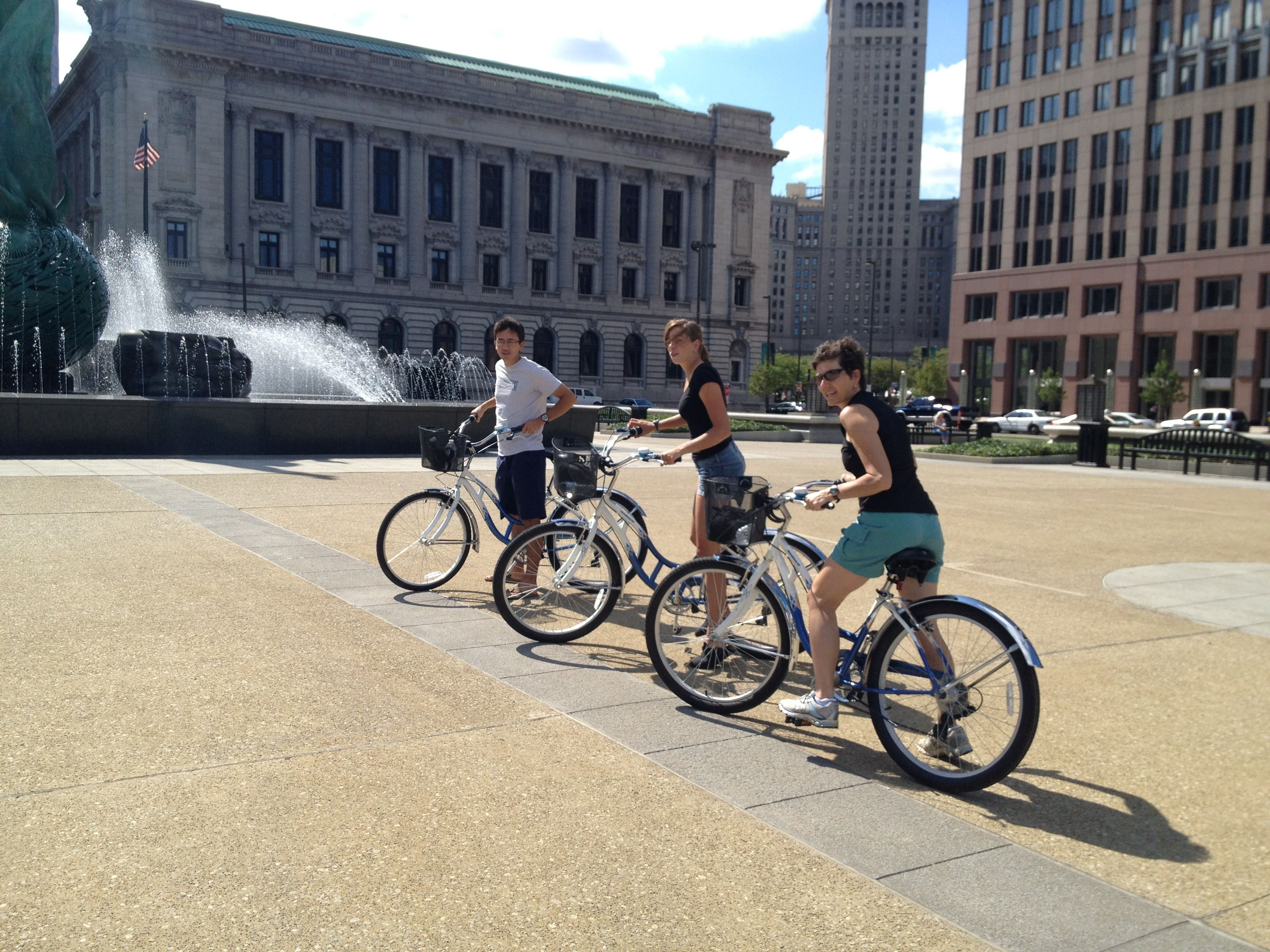 Our #Cleveland #bike tour is at a casual pace and fun. Only $40 per person. www.BikeCLE.com