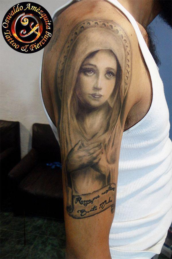 Virgen Maria, Realistic Tattoo | virgen maria tattoos | Maria tattoo ...