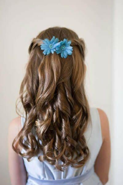 تسريحات أطفال بسيطة بالخطوات سهلة موضوع يهمك Flower Girl Hairstyles Hair Styles Half Up Hair