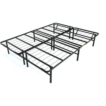 "Walmart Under Bed Storage Fair Mainstays 14"" High Profile Foldable Steel Bed Frame With Underbed"