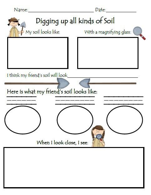 Digging for knowledge soil exploration worksheet for Soil 2nd grade