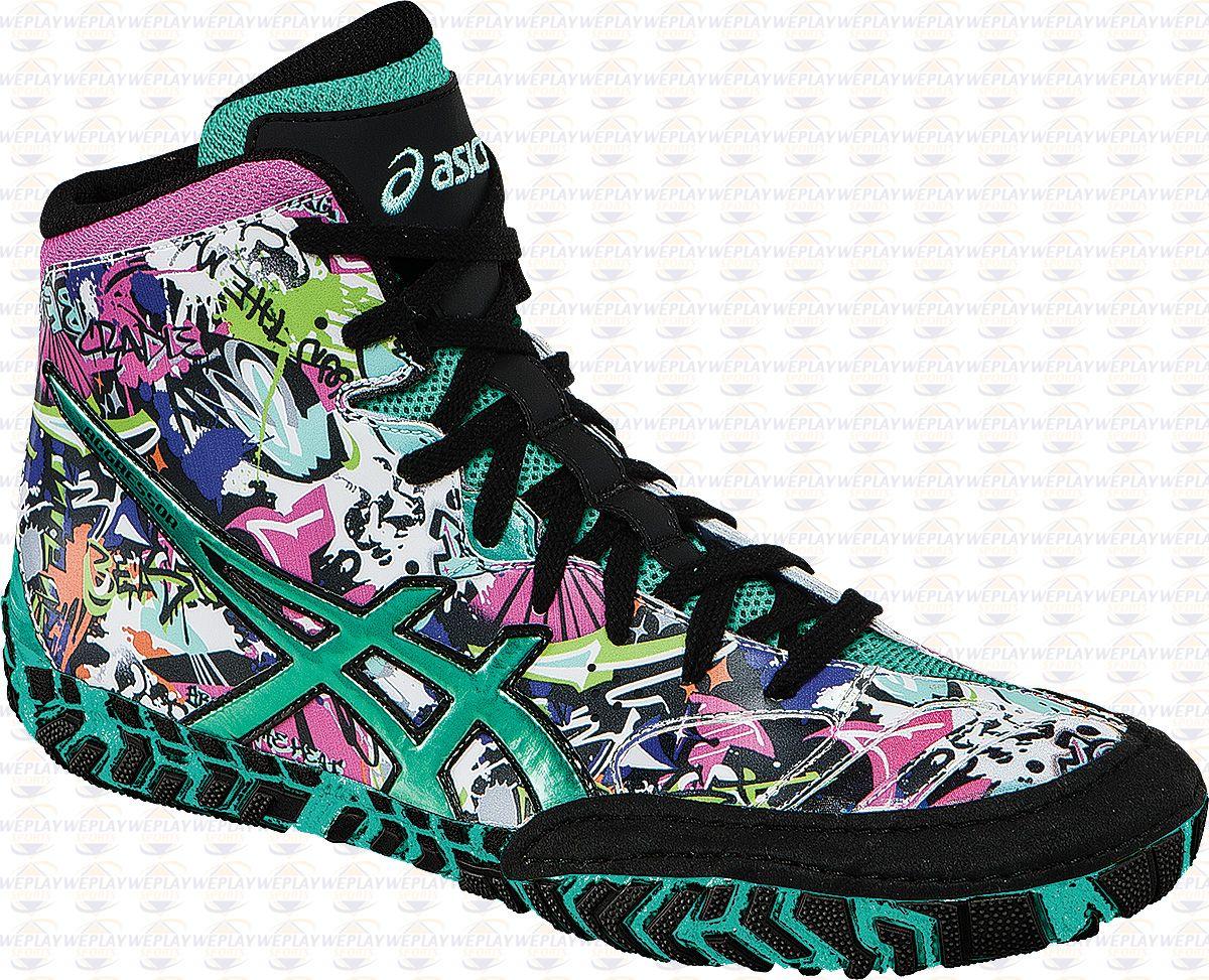custom asics wrestling shoes