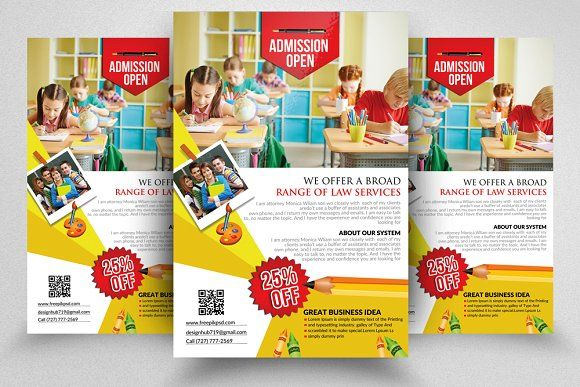 Education Promotion Flyer by Psd Templates @layer3mockups