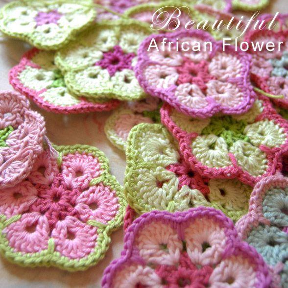 Flowers.. | Crocheting | Pinterest | Ganchillo, Puntadas y Patrón de ...