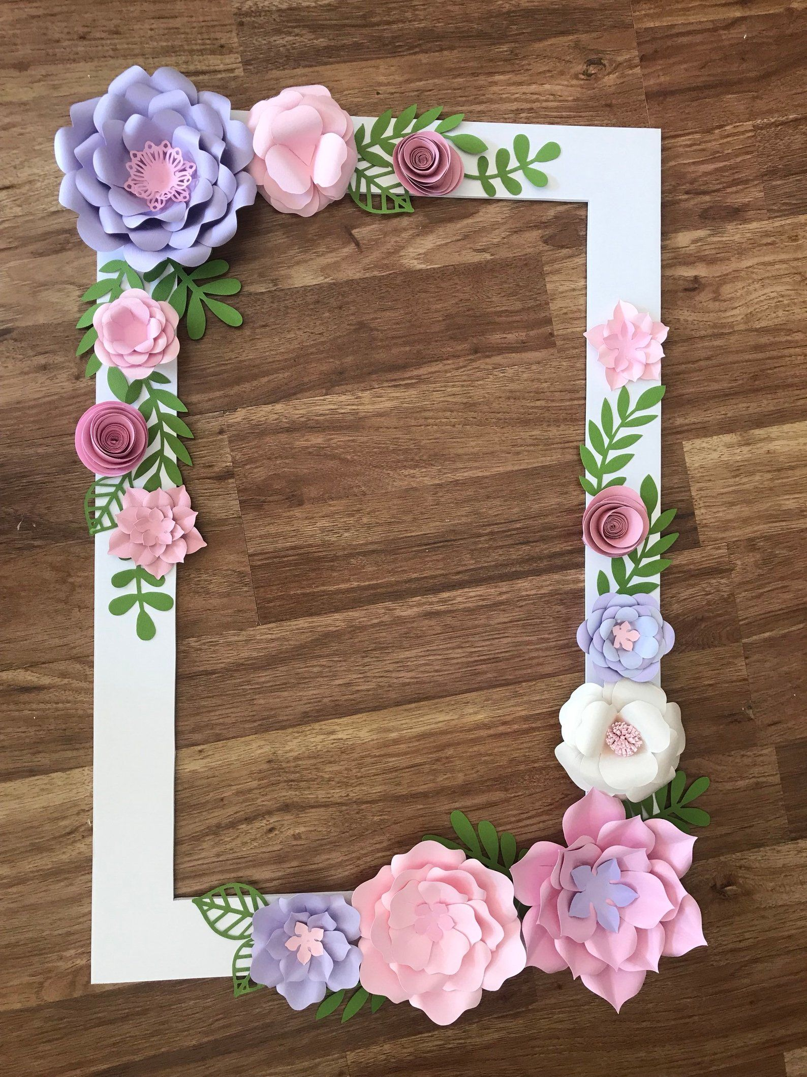 Floral Photo Booth Frame/wedding/birthday Party Selfie