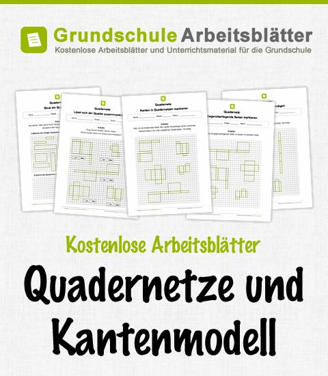 kostenlose arbeitsbl tter und unterrichtsmaterial zum thema quadernetze und kantenmodell im. Black Bedroom Furniture Sets. Home Design Ideas