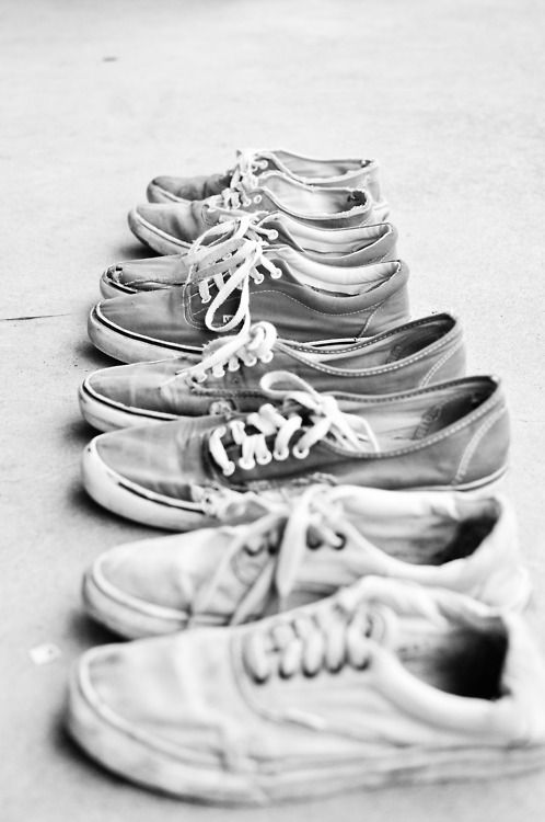 Well worn Vans. This image popped up on our Tumbr feed last week (urbandaddy.tumblr.com)   Source unknown.