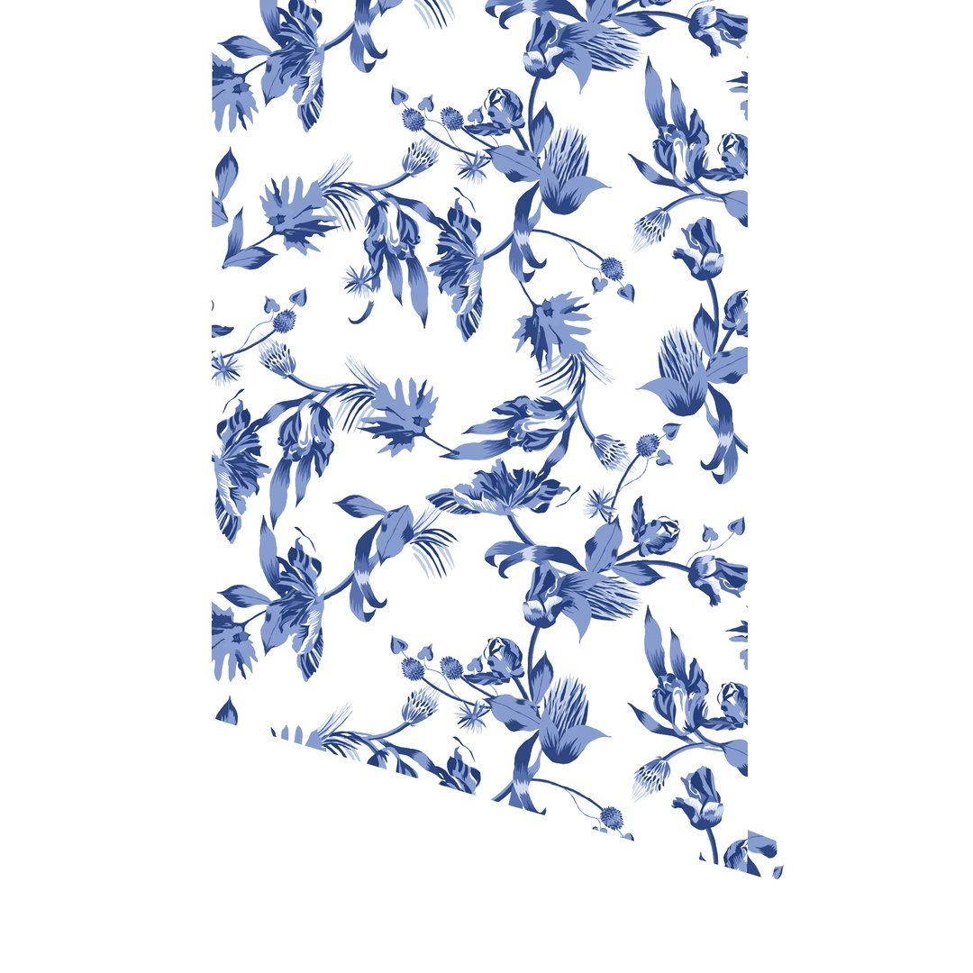 Montespan Floral Pattern Wallpaper Peel And Stick Wallpaper Chinoiserie Chic