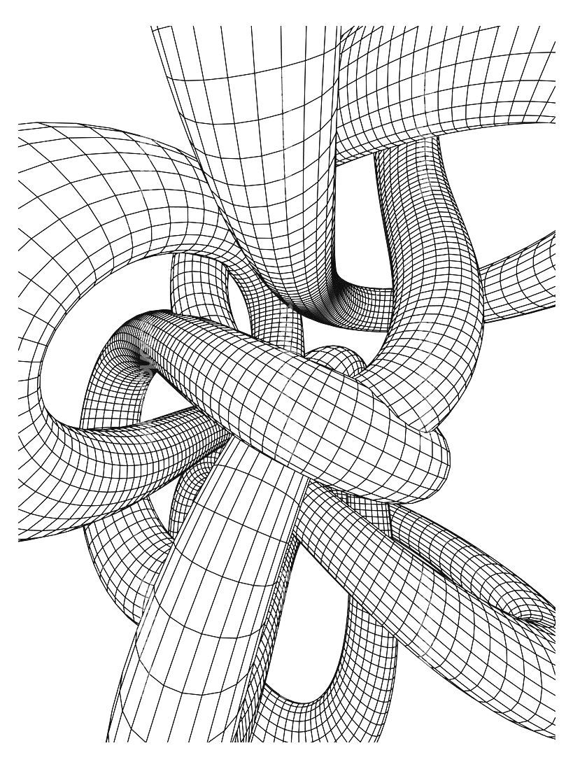 Tubing - Optical Illusions (Op Art) Coloring Pages for