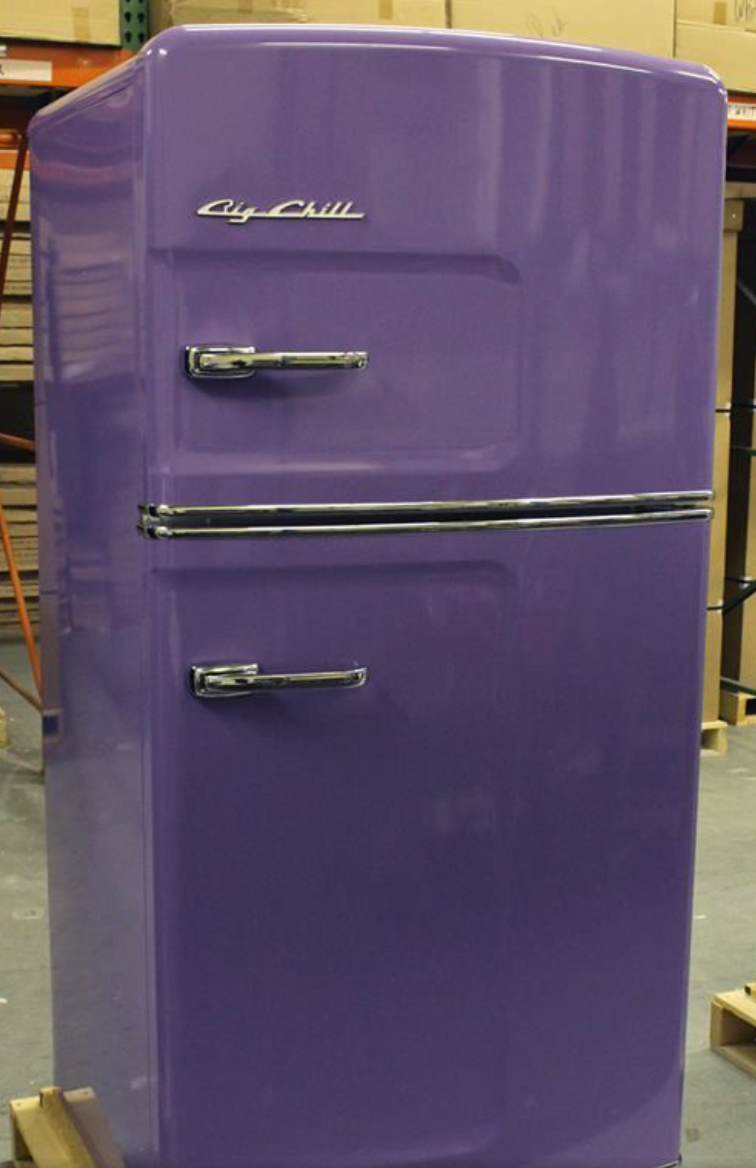 Kitchen ~ Appliances ~ Big Chill refrigerator in purple