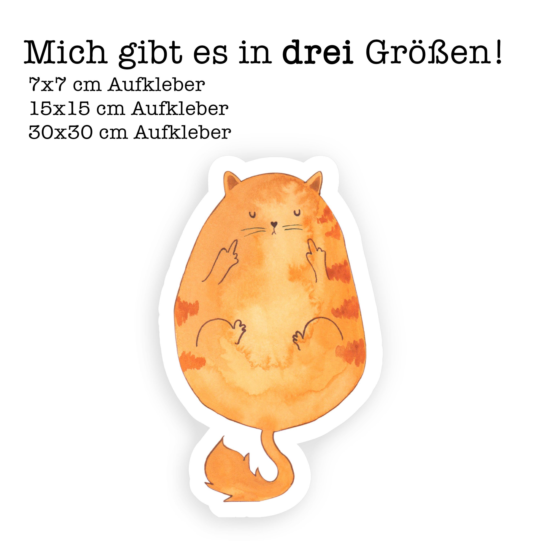 15×15 cm Aufkleber Katze Frühaufsteher