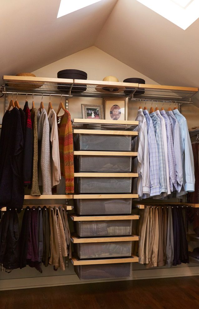Incroyable Menu0027s Small Closet Organizer Idea Equipped With Bag Hangers Shelving System  Vertical Arranged Box Storage System And Upper Shelf Of Small Closet  Organizers: ...