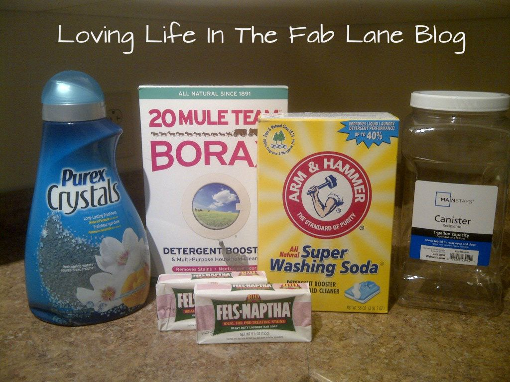 Homemade Laundry Detergent With Purex Crystals Borax