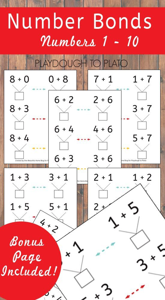 Number Bond Practice Sheets | Addition activities, Number bonds and ...