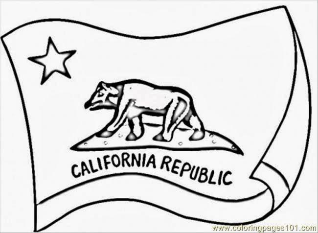 California Bear Flag Coloring Book Drawing Bear Flag Museum Flag Coloring Pages California State Flag California Flag