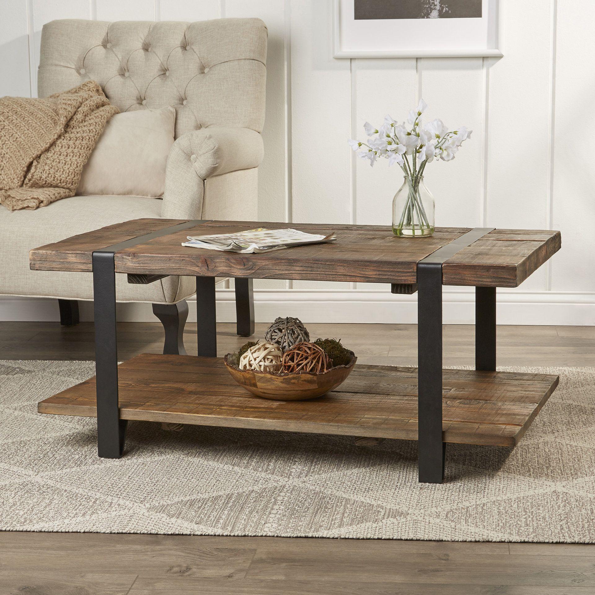 Cruz coffee table furniture rustic coffee tables