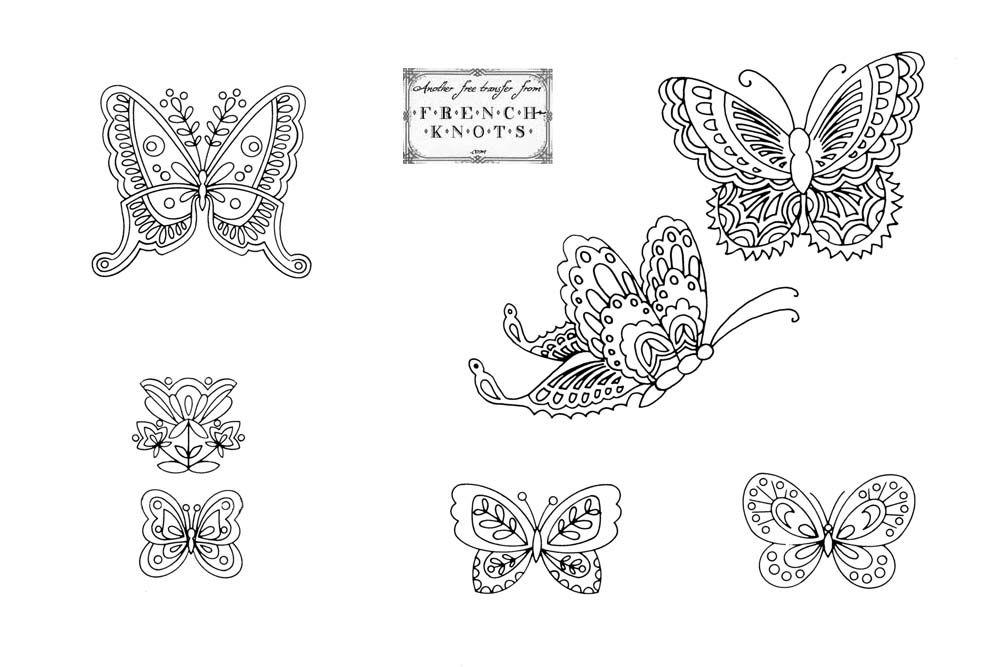 Butterfly Pattern | free vintage butterfly embroidery transfer ...