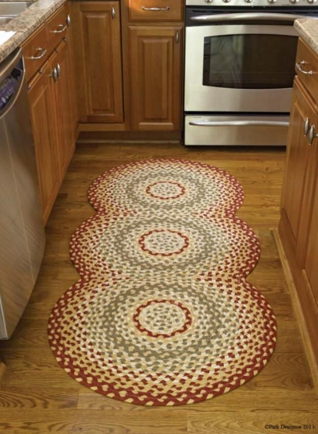 Mill Village Braided Country Rug Runner By Park Designs Large 30 X72 Circles Parkdesigns Countryprimitiverusticcolonial