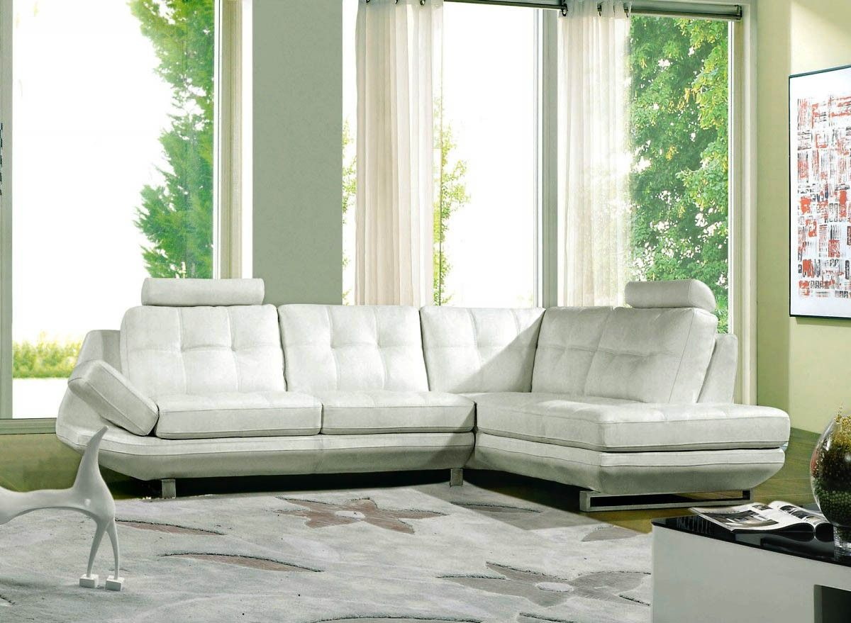 Bold Sectional Featuring Broad Armrests Modern Bonded Leather Sectional Sofa Leather Sectional Sofa L Shaped Leather Sofa