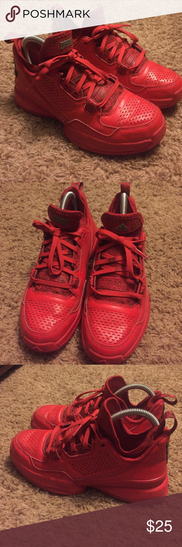 Adidas Damian lillard 1 rose city yeezy boost 350 These shoes are a youth 4  which is a women s 5.5 they are in good but worn condition and very hard to  find ... d7b9427598