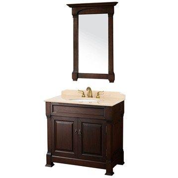 "Andover 36"" Traditional Bathroom Vanity Set Wyndham Collection - Dark Cherry"