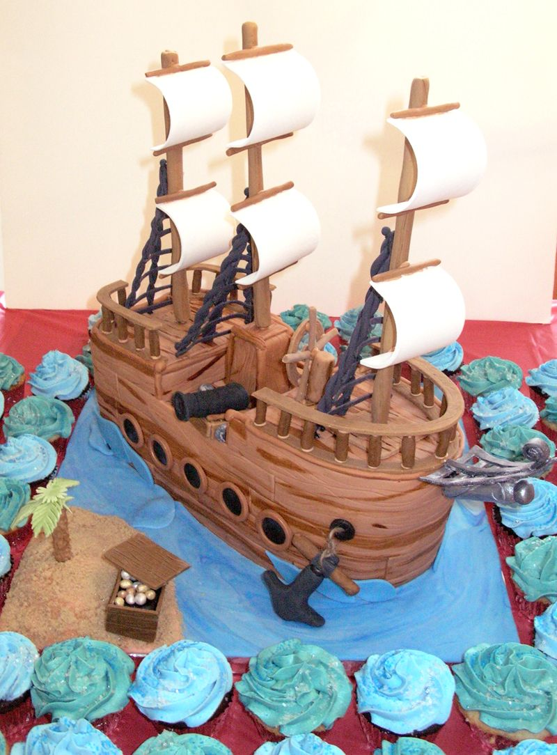 Pirate Ship Birthday Cake Pirate Ship Birthday Cakes Projects To